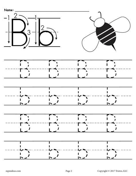 letter b worksheets free printable letter b tracing worksheet supplyme 22774   1print Preschool Handwriting TracingNOArrows2 e2c90321 961c 498f 8792 d804cb7b8a64 1024x1024