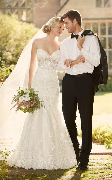 fit  flare strapless wedding dress  essense  australia