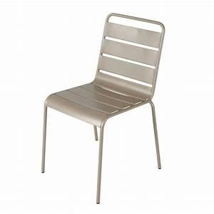 Chaise Jardin Maison Du Monde : chaise de jardin en m tal taupe batignolles maisons du monde ~ Premium-room.com Idées de Décoration