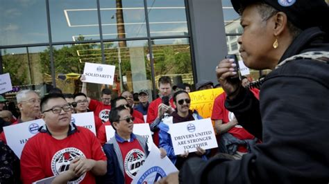 Uber, Lyft Drivers Protest In Cities Across The U.s.