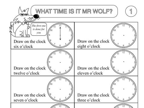 primary numeracy worksheet pack showing the time by