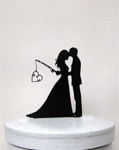 Personalized Wedding Cake Topper Hooked On Love With