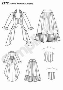Simplicity pattern 2172: Misses' Costume. Victorian-era ...