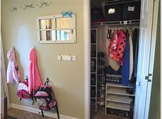 Organizing a Small Entryway Closet ~ Day #14