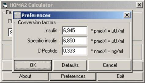 homa ir calculator