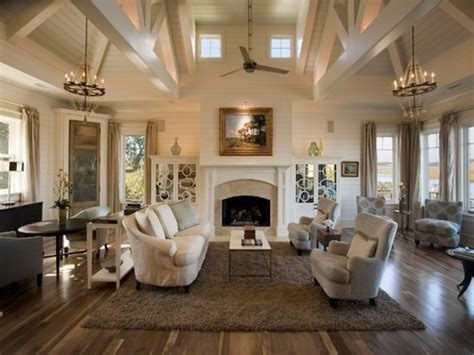 transitional living room great rooms with vaulted