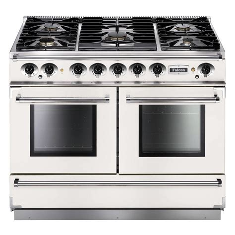 falcon range cooker falcon range cookers 1092 continental dual fuel range cooker fcon1092dfwh ng eu white with
