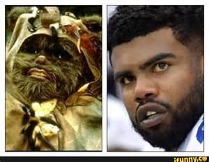 Ezekiel Elliott Ewok Meme