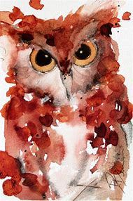 Cool Watercolor Paintings Owl