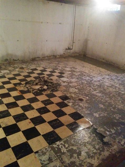 asbestos tile basement remodel pinterest tile