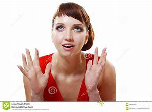 Woman Surprised Expression Royalty Free Stock Photo ...