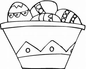 Free Coloring Pages: Easter Basket Coloring Pages
