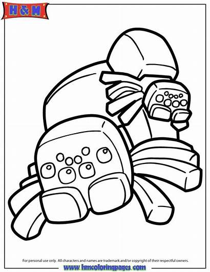 Minecraft Coloring Pages Spider Games Spiders Colouring