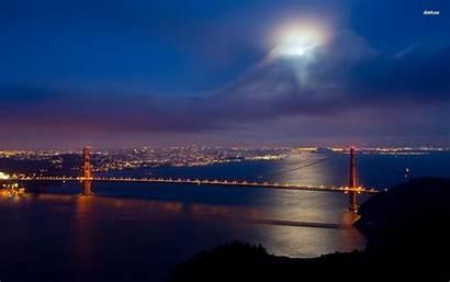 Francisco San Wallpapers Night Bridge California Gate