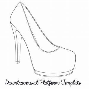 printable high heel stencil best photos of high heel With high heel shoe template craft