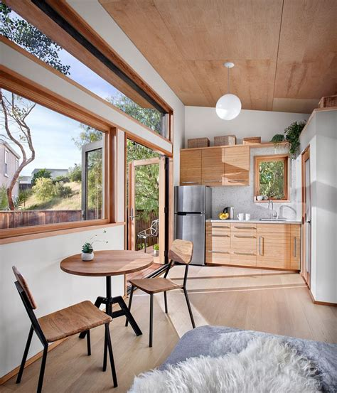 A Small Contemporary Guest House with Compact Living