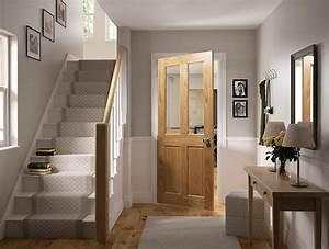 Deanta oak internal door hallway hall pinterest for Internal door ideas uk