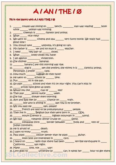 articles  images english grammar worksheets