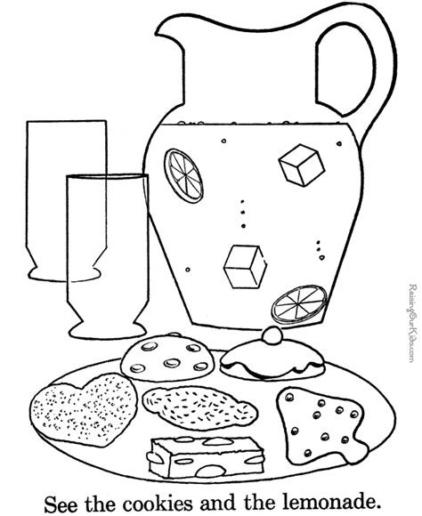 1:1 correspondence cookie color, cut & paste (works on shape recognition too). Cookies to print and color 022
