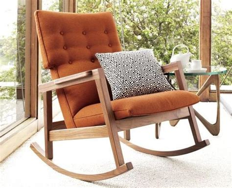 stylish and modern rocking chair nursery editeestrela design