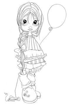 900+ Clipart girls ideas | digi stamps, coloring pages