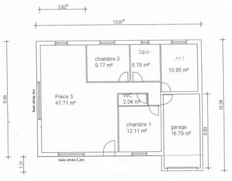 plan de maison gratuit 3 chambres plan de maison simple 3 chambres