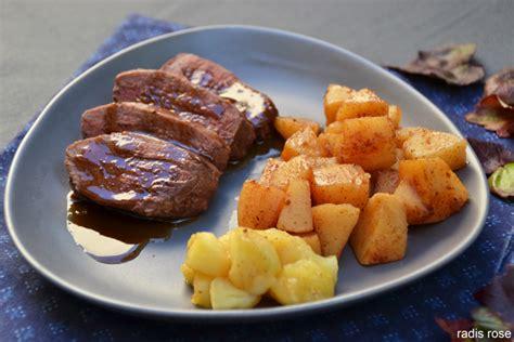cuisiner magret canard magret de canard et compotée de coing aux épices radis