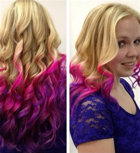 luscious pink ombre hairstyles