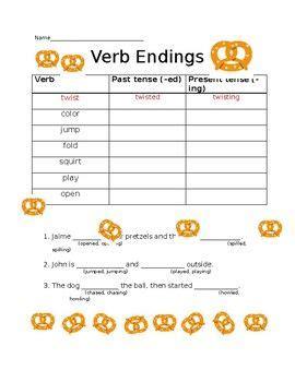 verb endings ed ing  images verb verb tenses