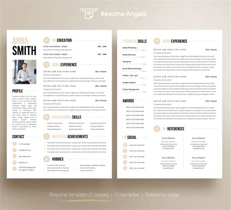 2 Page Resume Template by Professional Resume Template Clean Modern Resume