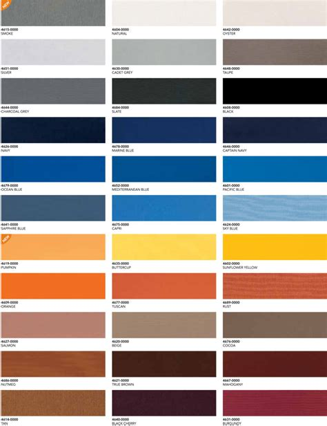 sunbrella fabric by the awning colors