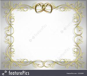 gold wedding invitation templates wedding invitation With golden wedding invitation borders free download