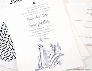 las vegas mandalay bay skyline wedding invitations With bay photo wedding invitations