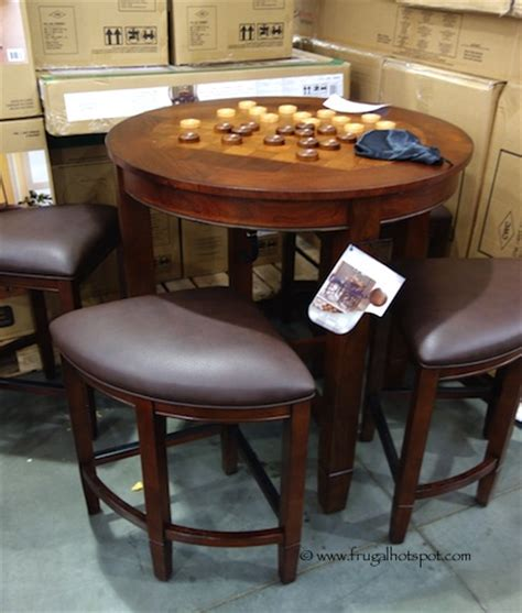 costco dining table in store costco universal furniture 5 pc counter height dining set