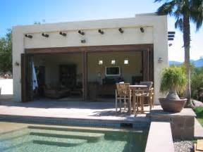 Hanging Lights In Living Room by Southwest Cabana And Pool Tropical Exterior Other