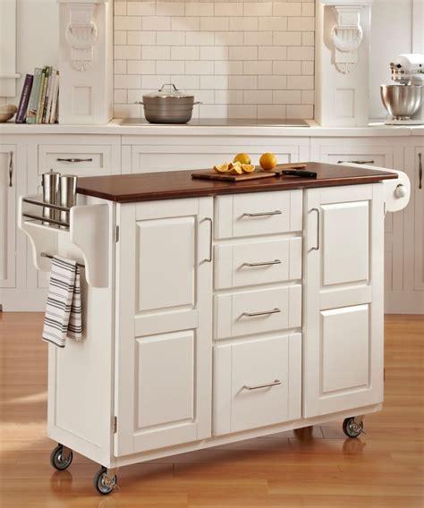 chariot cuisine home styles chariot de cuisine create a cart finition blanche avec plateau bois de chêne