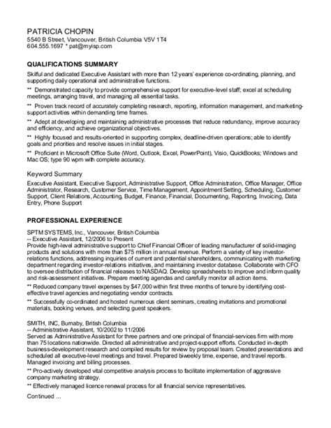 Keywords For Executive Assistant Resume by Ca Careerperfect 174 Executive Assistant Keyword