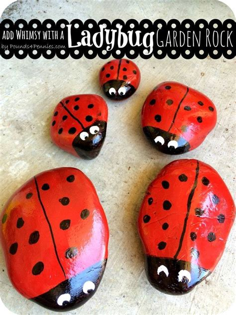 Add a Little Whimsy: Make a Painted Ladybug Garden Rock