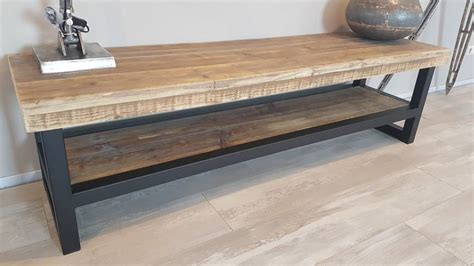 tv meubel hout tv meubel hout staal naar wens samen te stellen firma