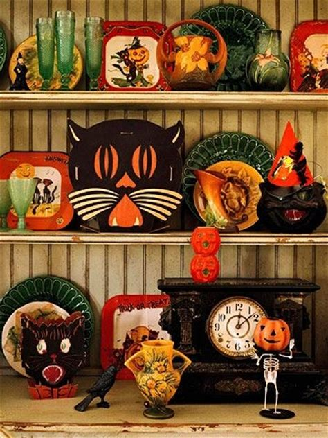 vintage halloween pottery display pictures