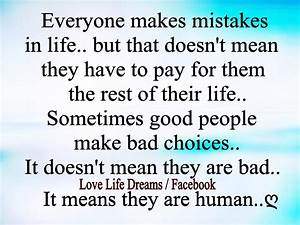 Love Life Dreams: Everyone makes mistakes in life, but ...