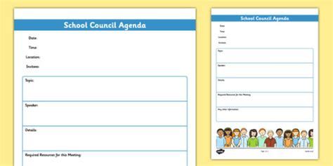 school council meeting agenda template school council