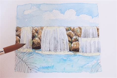 Learn How To Draw A Waterfall In This Step-by-step Tutorial