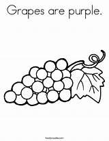 Coloring Grapes Purple Fruit Built California Usa sketch template