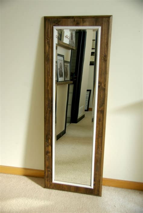floor mirror mirrored frame diy floor mirror frame