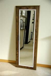 frame a mirror DIY Floor Mirror Frame