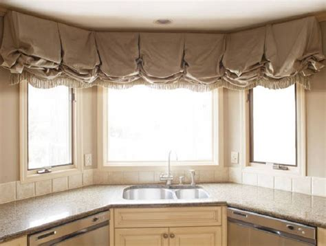 Kitchen Curtain Ideas For Bay Window by Bay Window Coverings Balloon Curtains Shades Valances