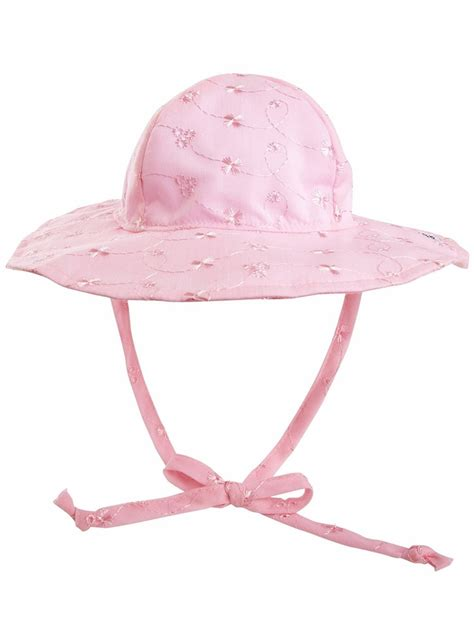 Light Pink Hat by Flap Happy Light Pink Eyelet Floppy Hat