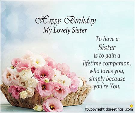 Birthday Messages For Sister, Birthday Wishes For Sister