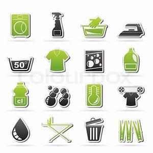 Weichspüler Symbol Waschmaschine : becken ansteckplakette button vektorgrafik colourbox ~ Markanthonyermac.com Haus und Dekorationen